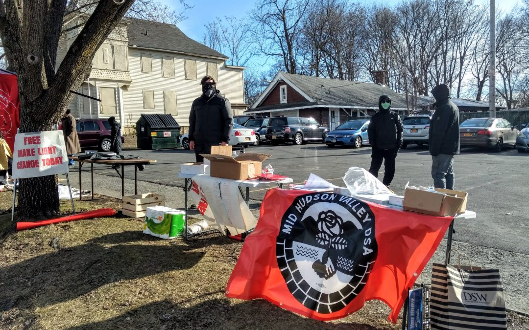 """""""Democratic Socialists gather to help Poughkeepsie residents"""""""