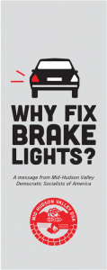 Car with light out and text saying Why Fix Brakelights